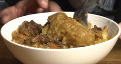 Dick Strawbridge mutton stew with pepper dumplings on The Hungry Sailors