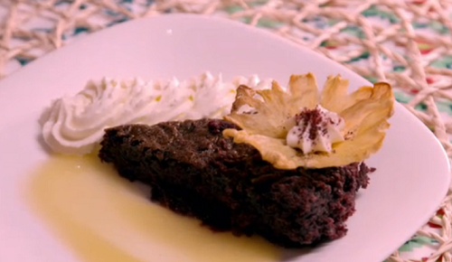 Tosin and Genevieve's  pineapple and hibiscus cake with cream cheese mousse African desser ...