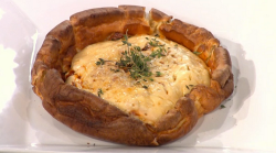 Yorkshire pudding pizza on Sunday Brunch