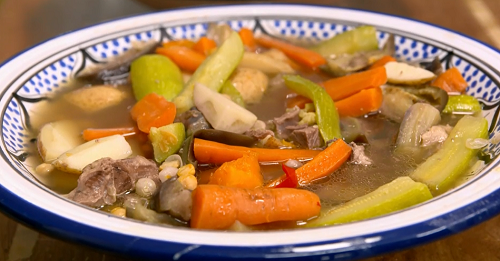 Mammude Ayoubi's Syrian lamb and vegetable stew on The Big Family Cooking Showdown