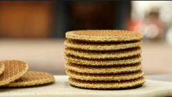 Mike Vandenbergh's stroopwafels on The Great British Bake Off 2017