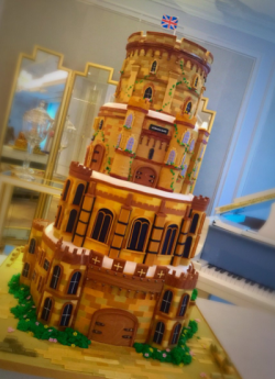 Cherish Finden's Windsor castle cake on The Great British Bake Off Extra Slice