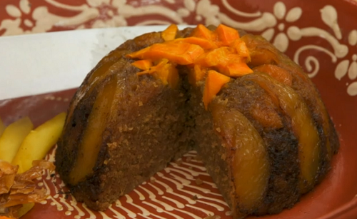 Yan's mango fruit hat steamed school pudding on The Great British Bake Off 2017