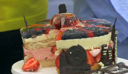 Yan's 'heart of a hero' trifle terrine on The Great British Bake Off 2017