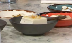 Lillian Luck's xing ren dou fu with almond milk Chinese dessert on Sunday Brunch