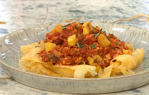 Adria Wu's Pumpkin Bolognese  on Sunday Brunch