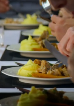 Yee Kwan and Natalie's braised rabbit dish on My Kitchen Rules
