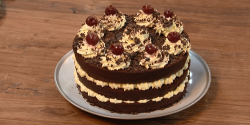 The Boyes  black Forrest gateau made with Giorgio Locatelli recipe on The Big Family Cooking Sho ...