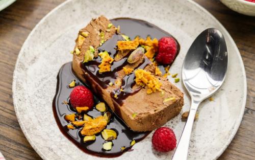 Simon Rimmer  chocolate and pistachio seimfreddo on Sunday Brunch