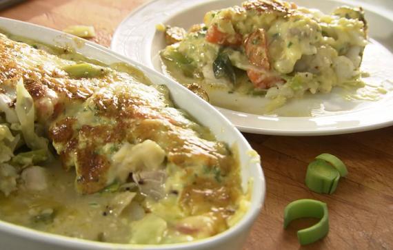 Rick Stein's cod gratin fish stew with Bearnaise sauce on Saturday Kitchen