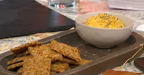 Adria Wu Pumpkin Crackers with Pumpkin Dip on Sunday Brunch