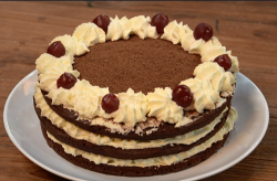 Monica's black Forrest gateau made with Giorgio Locatelli recipe on The Big Family Cooking ...