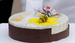 Sophie's 'Ode to the honey bee' entremet cake on The Great British Bake 2017 final