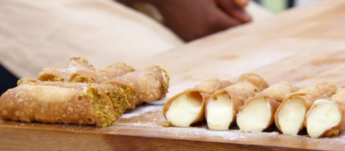 Liam's 'just doing me' cannoli on The Great British Bake Off 2017
