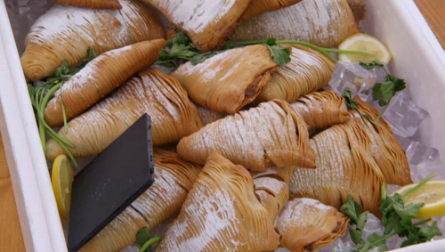 Liam's 'Morning Delivery' sfogliatelle on The Great British Bake Off 2017