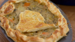 Stacey's 'Love Theme' decorative pies on The Great British Bake Off 2017