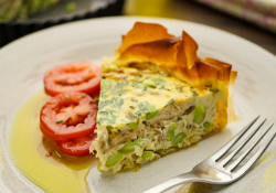Simon Rimmer's Smoked Mackerel and Edamame Tart on Sunday Brunch