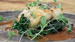 Miso cod with cavalo nero cabbage on Saturday Morning with James Martin