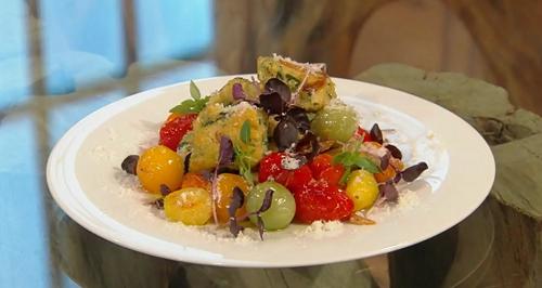 Donna hay Cheat's ricotta and cherry tomato gnocchi on Saturday kitchen