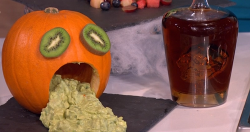 Juliet Sear's  ghoulish Halloween pumpkin on This Morning