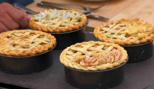 Sophie's game hand raised pie with glazed forest fruits on The Great British Bake Off 2017