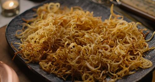 Nigella Lawson's spiralized potato chips on Nigella: At My Table
