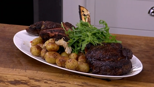 James Martin's Tomahawk beef with bearnaise sauce on Saturday Morning with James Martin