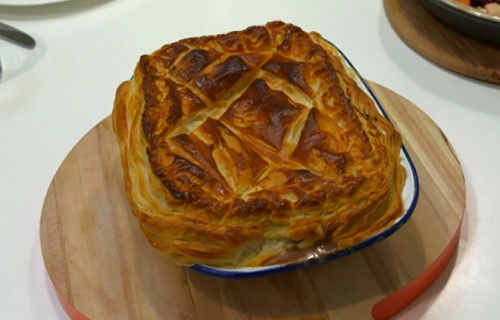 Carina Contini's steak pie recipe on the Hairy Bikers Comfort Food