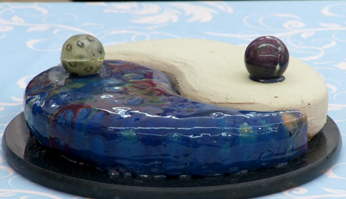Steven's 'Yin yang' entremet cake on The Great British Bake 2017 final