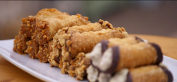 Steven's Italian Style cannoli on The Great British Bake Off 2017