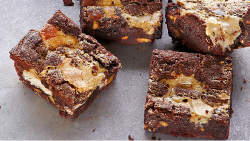Yotam Ottolenghi's tahini and halva brownies  on Sunday Brunch
