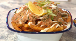 Claw crab fries on Sunday Brunch