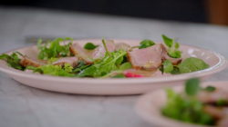 Jamie Oliver's pan fried duck breast with orange sauce on Jamie and Jimmy's Friday N ...