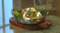 Glynn Purnell's fenugreek chicken curry on Saturday Kitchen