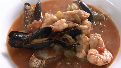 California fish stew with monkfish, mussel and prawns on Rick Stein's Road To Mexico