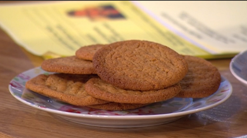 Paul Hollywood's mum ginger biscuits on This Morning