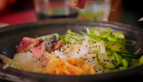 Jimmy's Korean BBQ beef dish  on Jamie and Jimmy's Friday Night Feast