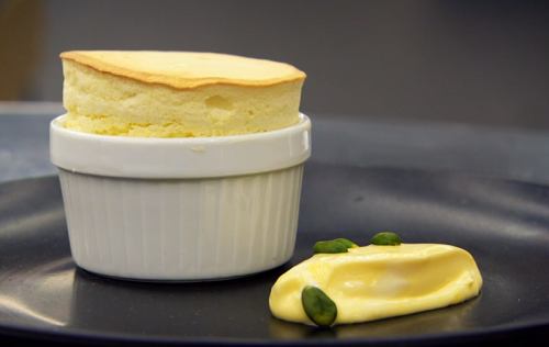 Ryan's passionfruit souffle on MasterChef: The Professionals