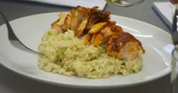 Risotto with salmon recipe on The Apprentice 2017