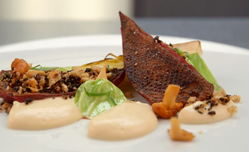 Craig's roast duck with juniper sauce dish on  MasterChef: The Professionals