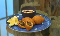 Selin Kiazim's Turkish spiced beef and bulgur wheat koftes on Saturday Kitchen