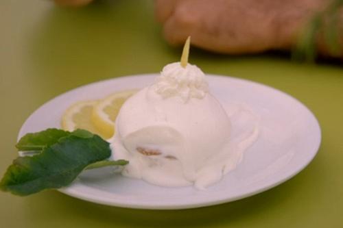 Italian delizia al limone sponge custard cake on Gino's Italian Coastal Escape