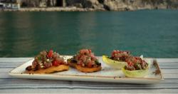 Tuna tartare with anchovies on Gino's Italian Coastal Escape