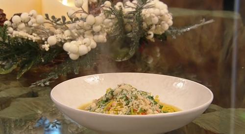 Francesco Mazzei crab and lemon tagliolini on Saturday Kithcen