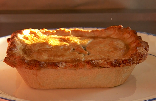 Lynn's homemade  game venison pie on Saturday Kitchen