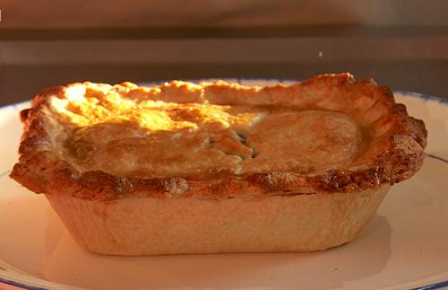 Lynn's homemade  game venison pie on Saturday Kitchen