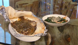 Tristan Welch's baked plaice with thyme in a paper parcel with cavolo nero, celeriac, waln ...