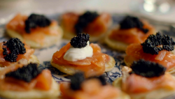 Kirstie's salmon gravlax canapes on Handmade Christmas