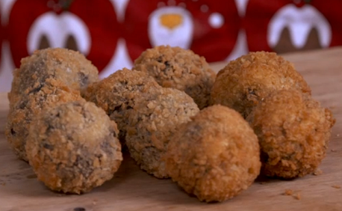 Andrew Webb mincemeat and black pudding scotch eggs on Kirstie's Handmade Christmas