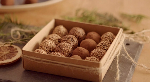Lisa's spiced truffles  gift on The Hairy Bikers Home for Christmas